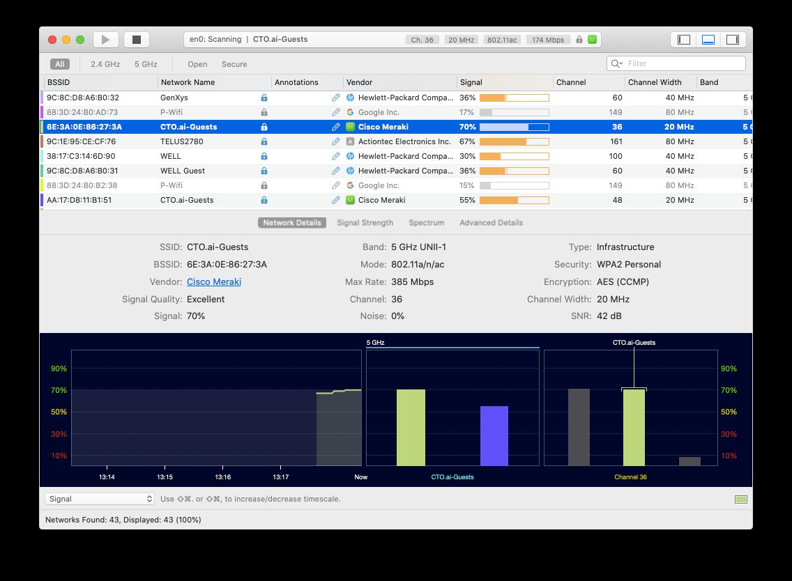 WiFi Explorer Mac scan wifi troubleshoot