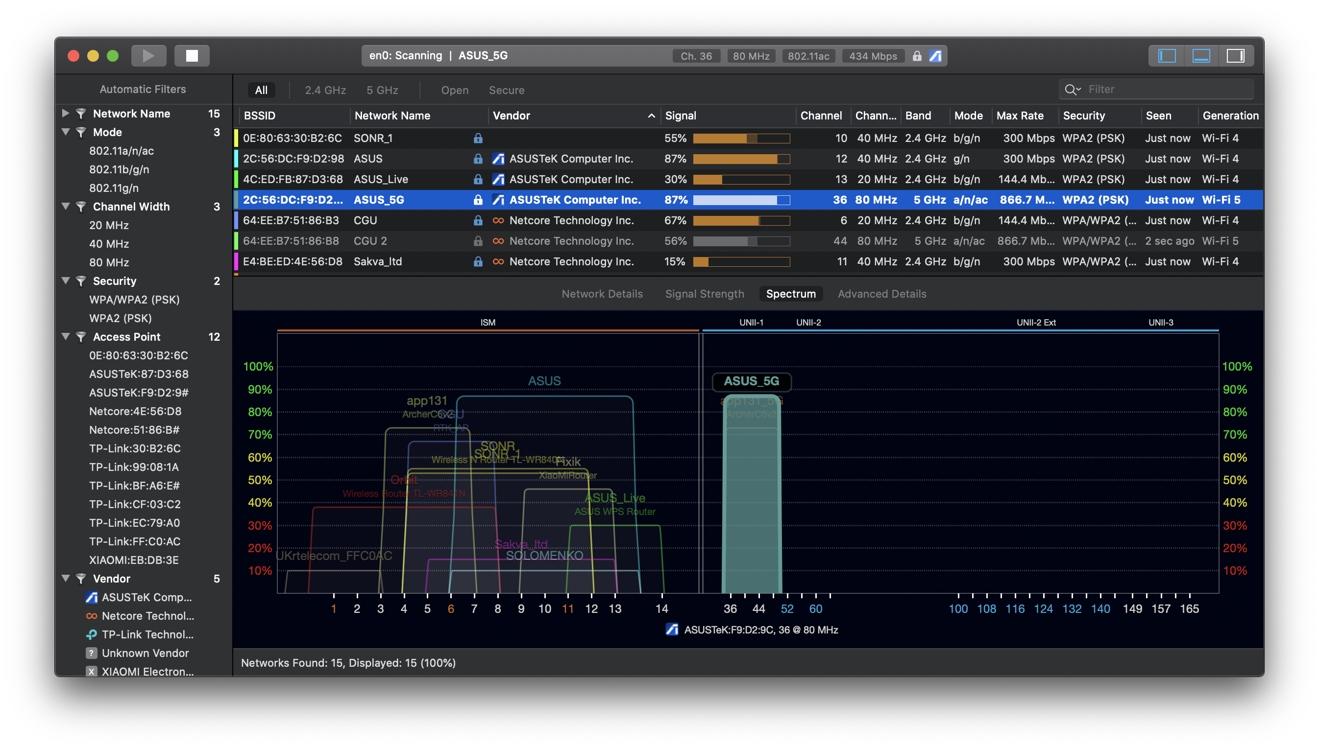 wifi channel analyzer and wireless channel scanner
