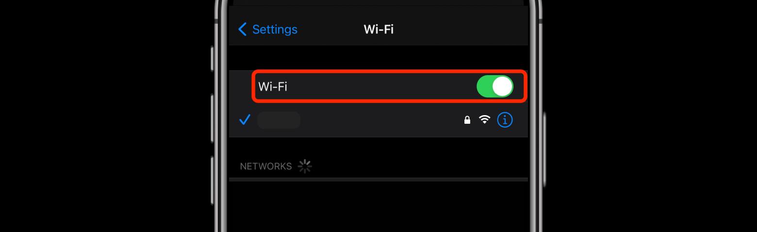 toggle wifi iphone