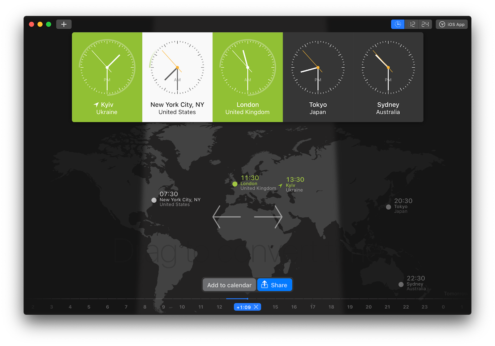 World Clock Pro Mac app