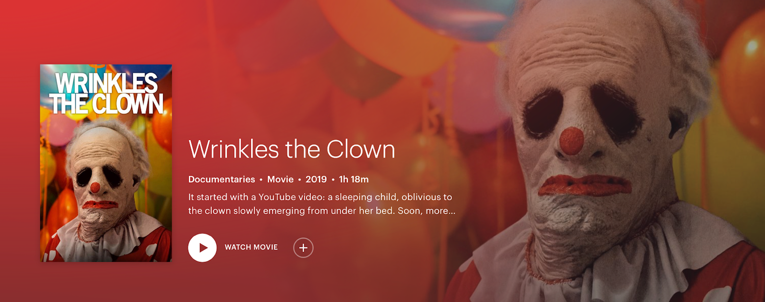 Wrinkles the Clown Hulu