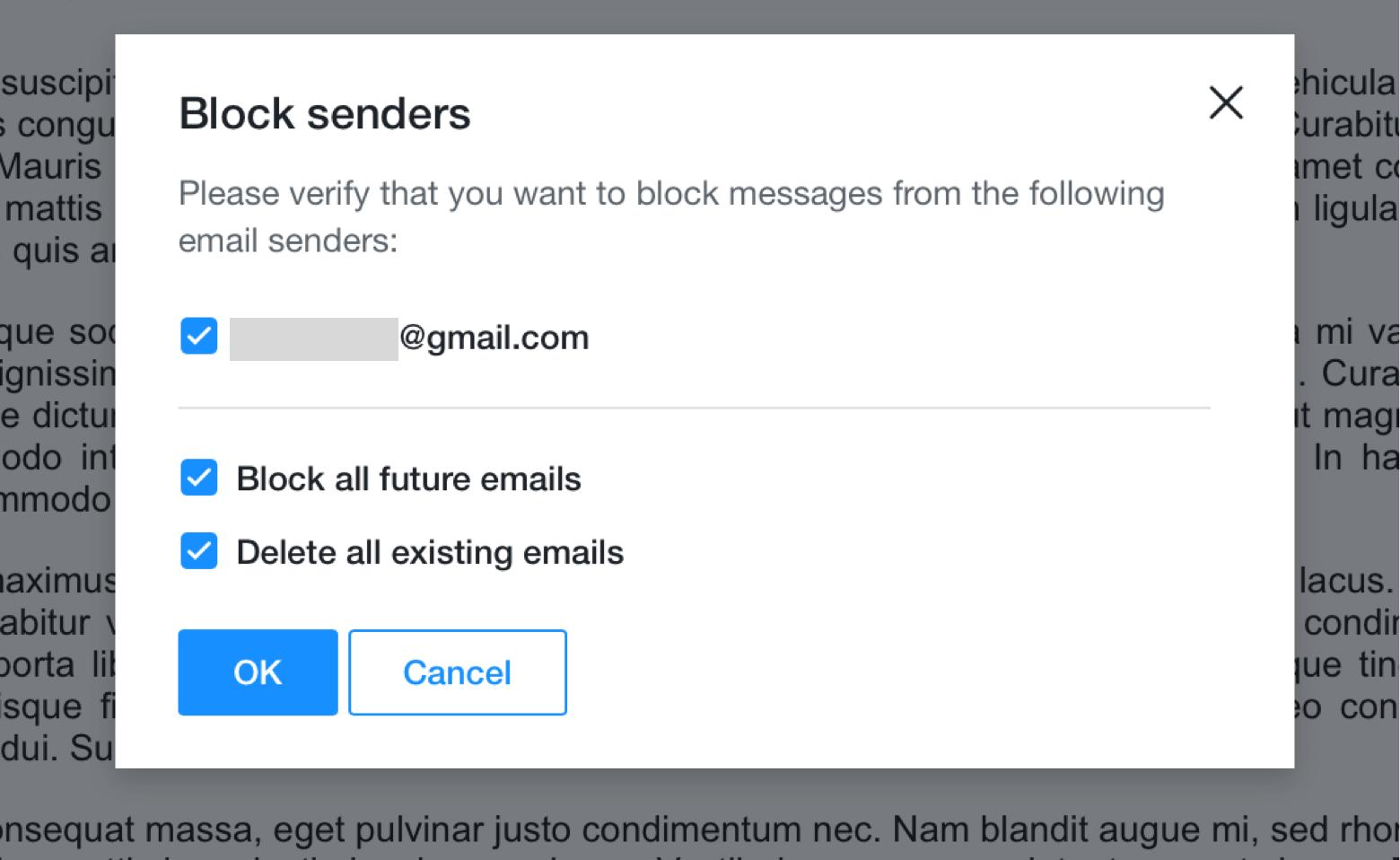 confirm blocking