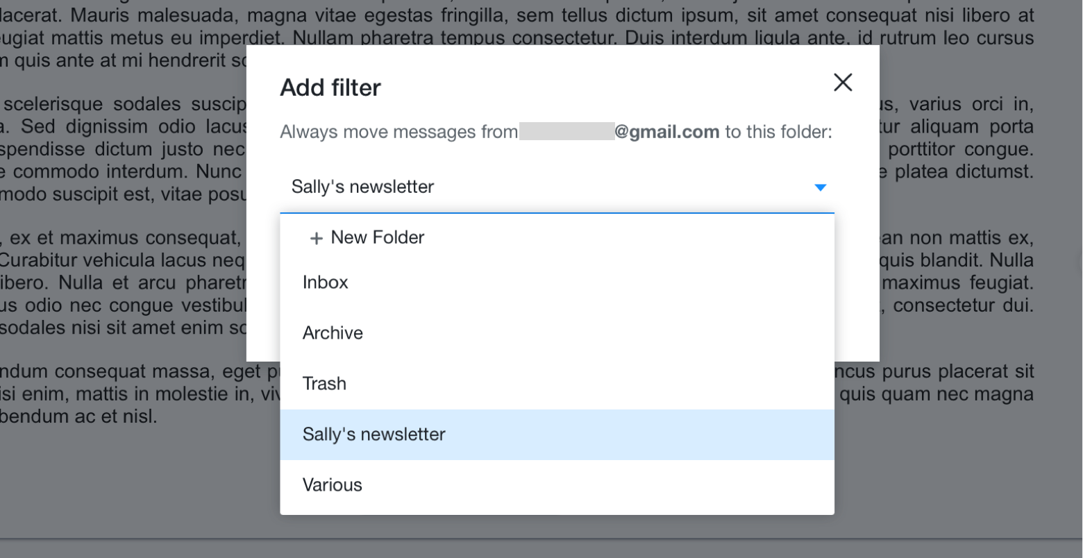 How to create a rule (filter) in Yahoo Mail