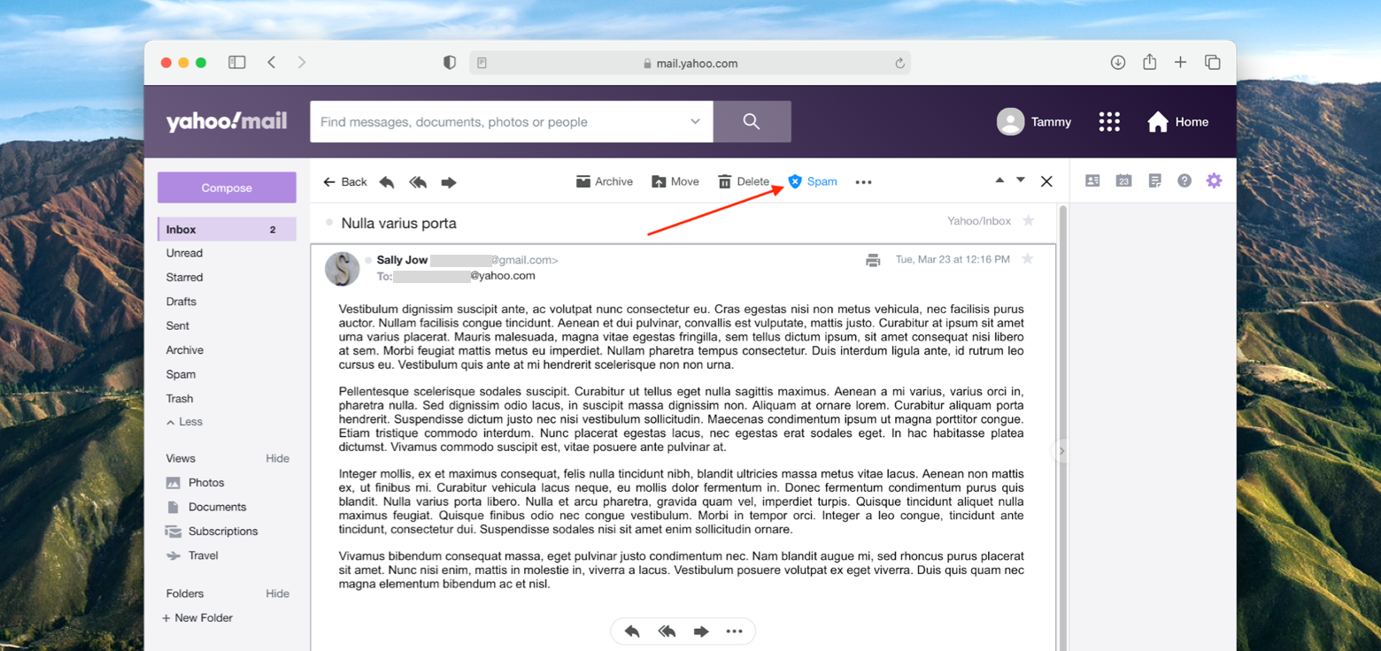 report spam