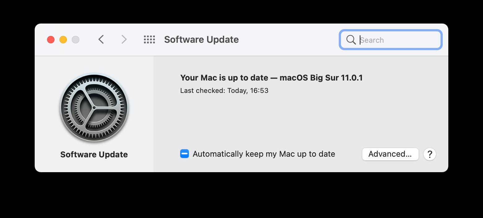 update macOS Mac new