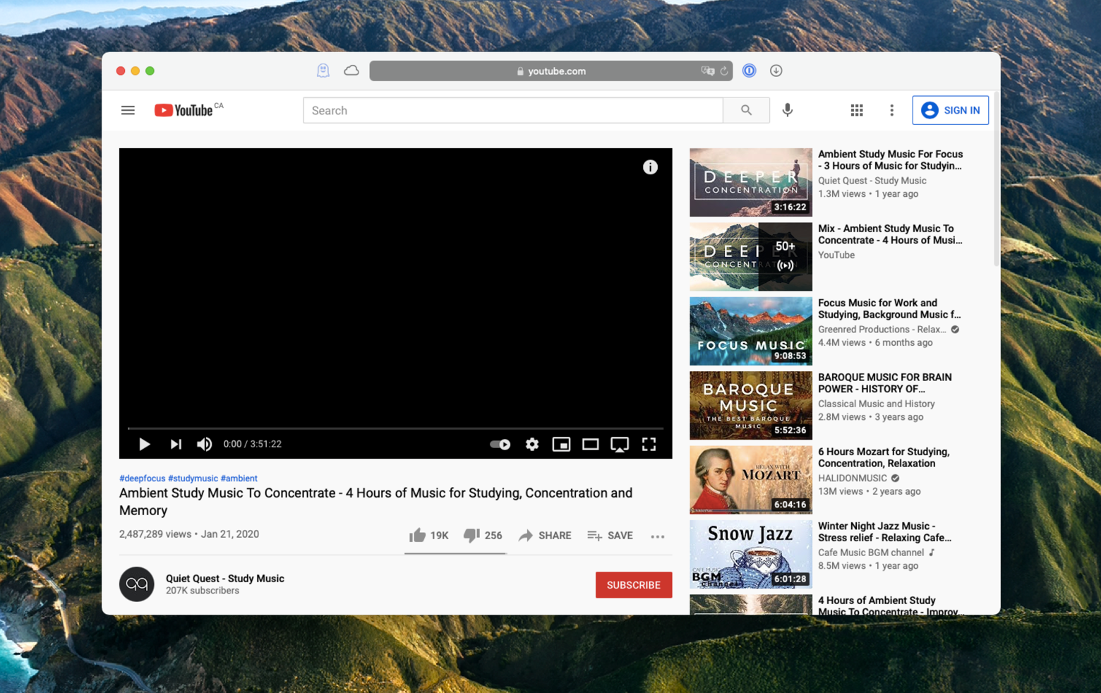 the black screen YouTube issue